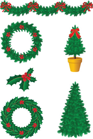 Vector illustration - christmas decor and simbols Vector