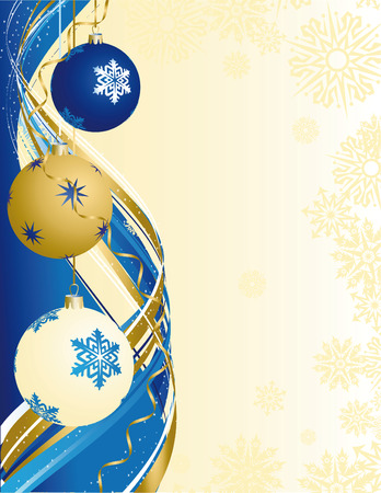 Vector illustrationn - xmas abstract background Illustration