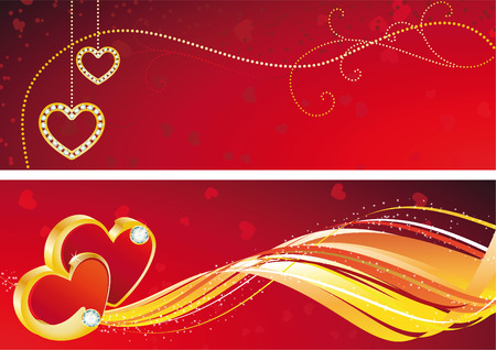 vector illustration - valentines day banner Vector