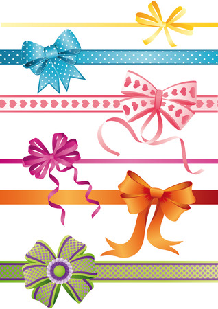 Vector illustration - set of bows Vector