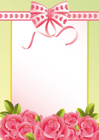 Vector illustration - greeting card and roses Illustration
