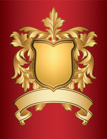 gold plaque: Coat of Arms