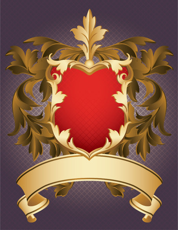 gold plaque: Vector illustration - Coat of Arms