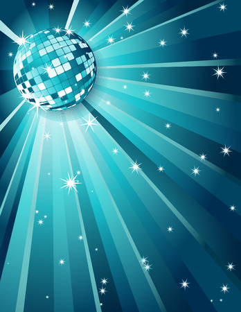 Vector illustration - Mirror disco ball