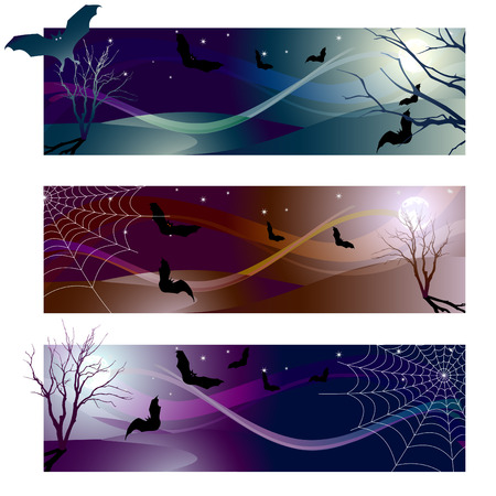 Vector illustration - halloween banner color variations Vector
