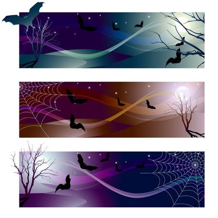 vampire: Vector illustration - halloween banner color variations
