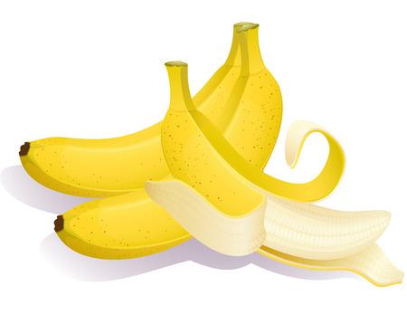 Vector illustration - Three ripe bananas