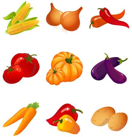 Vector illustration - set of vegetables