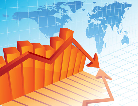 Vector illustration - Business crisis diagram Stock Vector - 3762259