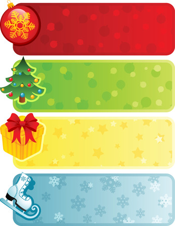 Vector illustration - Four christmas banner Vector