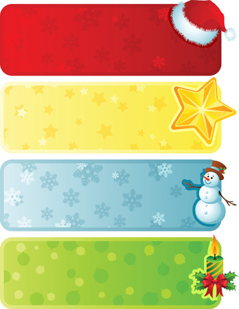 Vector illustration - Four christmas banner Stock Vector - 3866055