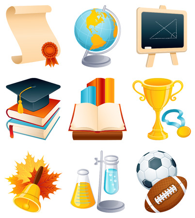 Vector illustration - Education and graduation icon set. Stock Vector - 4010808