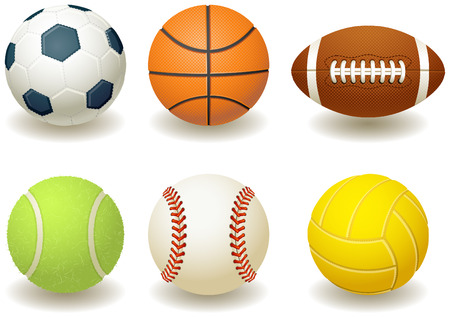 team sports: Vector illustration - Balls for team sports