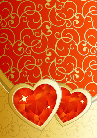 vector illustration - valentine's day background Stock Vector - 4020903