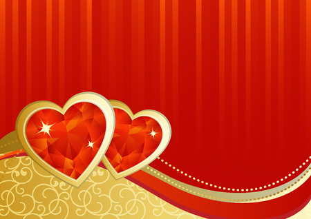 vector illustration - valentines day background Vector