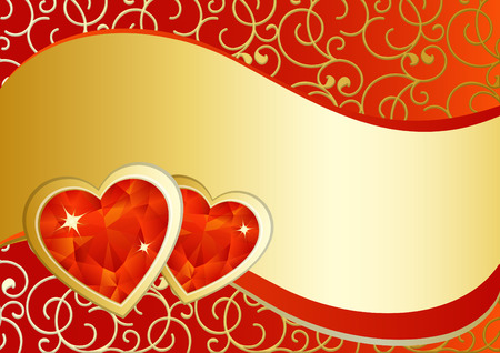jewelry vector: vector illustration - valentines day background