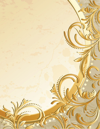 background vector: Vector illustration - floral abstract background