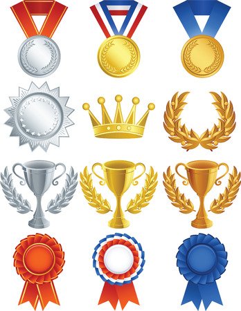 Vector illustration - Awards icon set Illustration