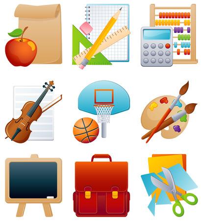 Ilustración vectorial - icono de la educación establecidos