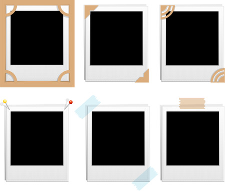 Vector illustration -set of six blank frames Stock Vector - 4176895