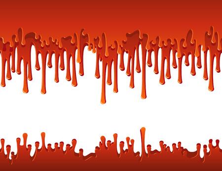 Vector illustration - flowing blood border Vector