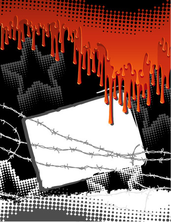 Vector illustration - blood urban background Vector