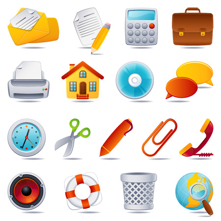 Vector illustration - office icon set