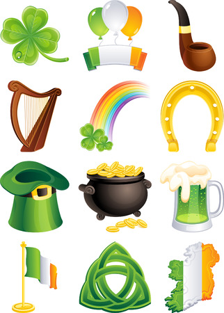 Vector illustration - set of  st. patricks icon