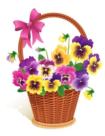 flower basket: Pansies
