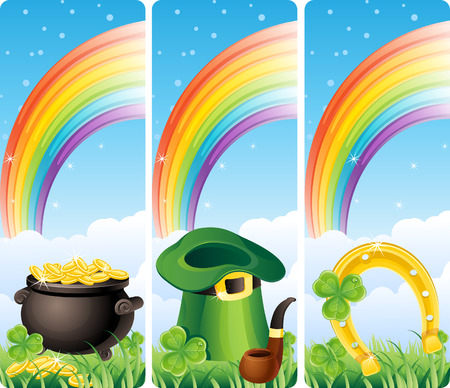 Vector illustration - set of  st. patricks banner Vector