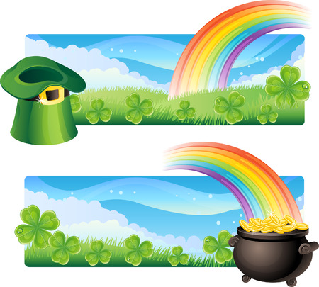 Vector illustration - set of  st. patricks banner