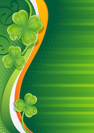 patric: Vector illustration - st. patricks background