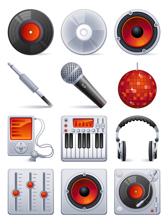 mixers: Vector illustration - Sound icon set Illustration