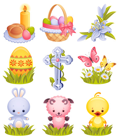 Vector illustration - Easter icon set