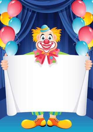 Vector illustration - ginger clown Illustration