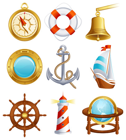 Vector illustration - Sailing icon set Vector