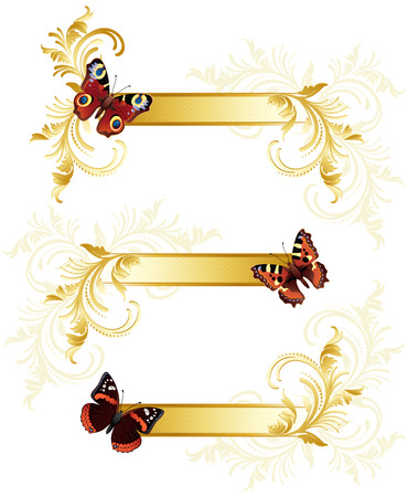 Vector illustration - butterfly banners Vector
