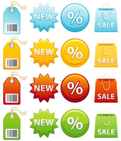 Vector illustration - Colourful label icon set Stock Vector - 4807200