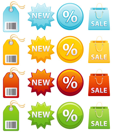 Vector illustration - Colourful label icon set Stock Vector - 4807200