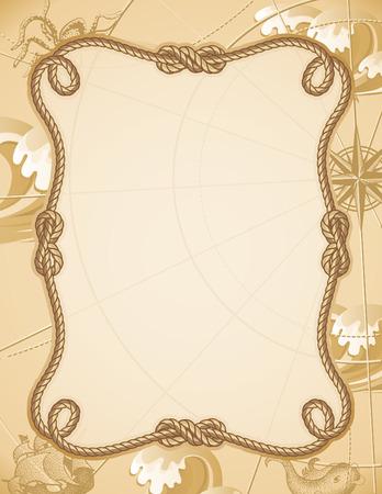 結び目: ベクトル イラスト - 抽象的なセーリング結び目フレーム