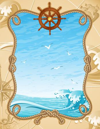 Ilustración vectorial - antiguo fondo de la vela Ilustración de vector