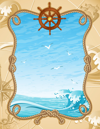 Vector illustration - old-fashioned sailing background