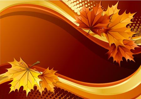 Illustration - autumn leaves background Vector