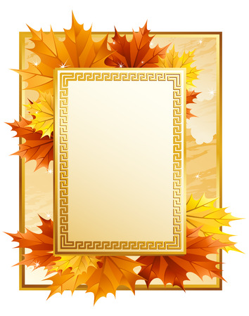 leafage: Illustration - autumn leaves frame