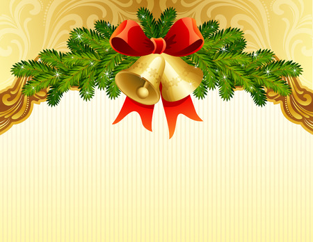 gold christmas background Stock Vector - 5883902