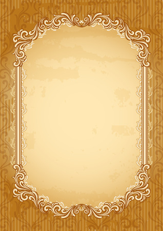 vintage scrolls: Vector illustration - old-fashioned abstract background Illustration