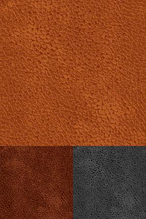 cuero vaca: conjunto de patrones transparente de cuero Vectores
