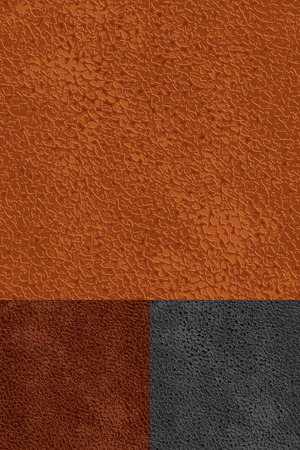 set of leather seamless patterns