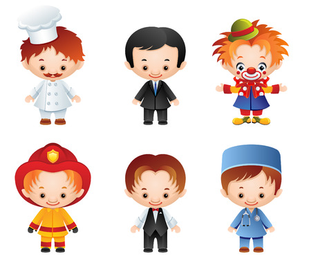 doctor toys: set of people occupations icons