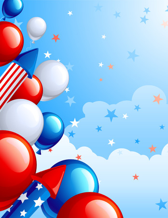 fourth of July celebration abstract background  Vector